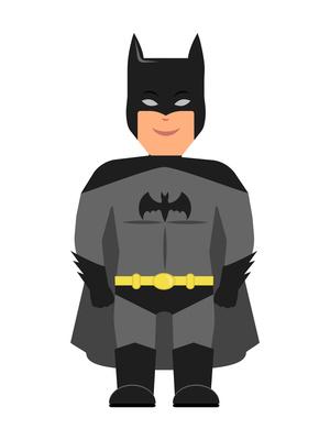 Batman als Schulranzen Motiv