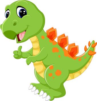 Dino als Schulranzen Motiv