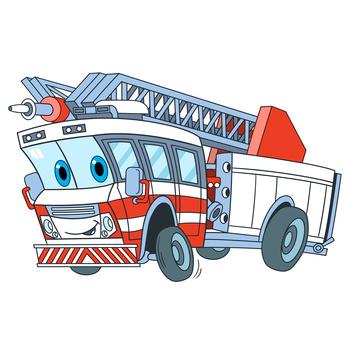 Feuerwehr als Schulranzen Motiv