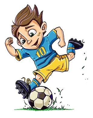 Fussball als Schulranzen Motiv