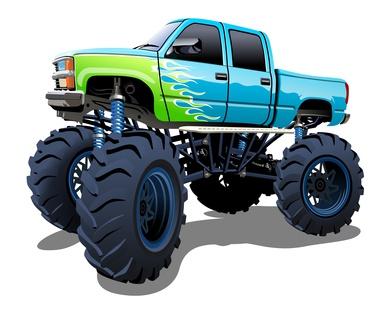 Monster Truck als Schulranzen Motiv