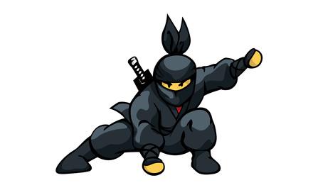 Ninja als Schulranzen Motiv
