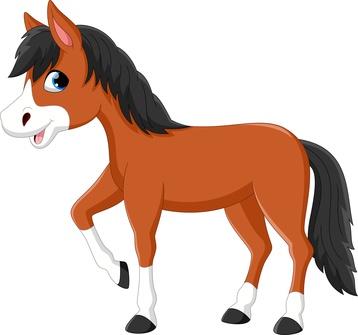 Pferde als Schulranzen Motiv