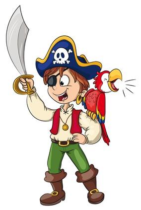 Pirat als Schulranzen Motiv