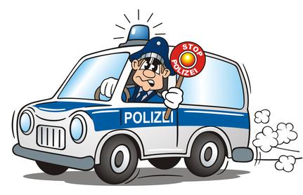 Polizei als Schulranzen Motiv