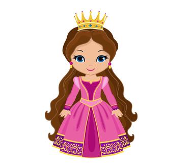 Prinzessin mit Krone als Schulranzen Motiv
