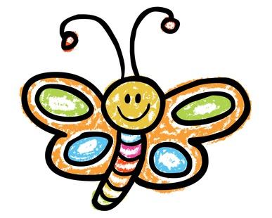 Schmetterling als Schulranzen Motiv