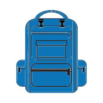 Schulranzen in Blau