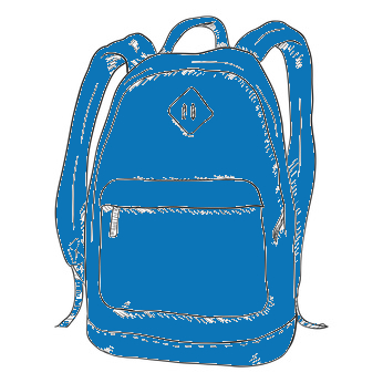 Schulrucksack in Blau