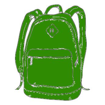 Schulrucksack in Grün