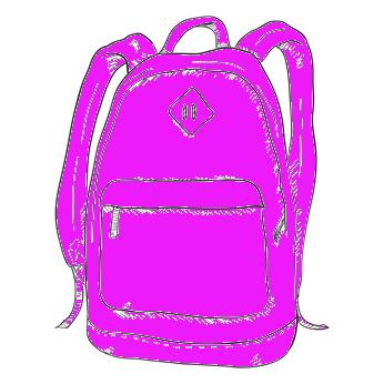 Schulrucksack Pink