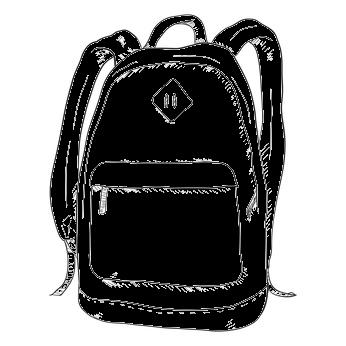 Schulrucksack in Schwarz