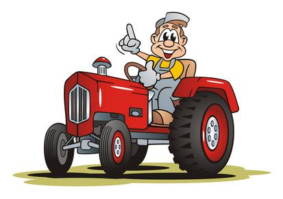 Traktor als Schulranzen Motiv